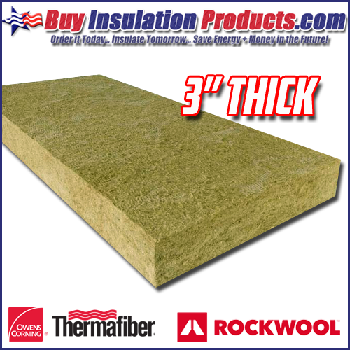 "3"" Thick Mineralwool Insulation Panels"
