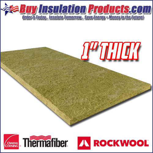 "1"" Thick Mineral Wool Insulation Board"