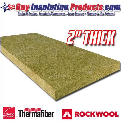 "2"" Thick Mineral Wool Industrial Board Insulation"
